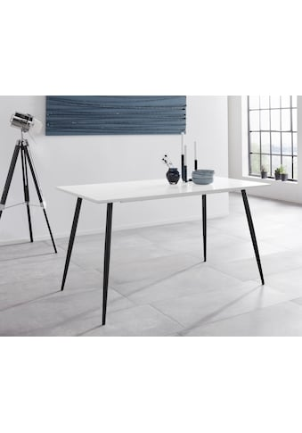 Esstisch »Dino«, mit einer folierten Tischplatte, schwarze Metallbeine, in... kaufen
