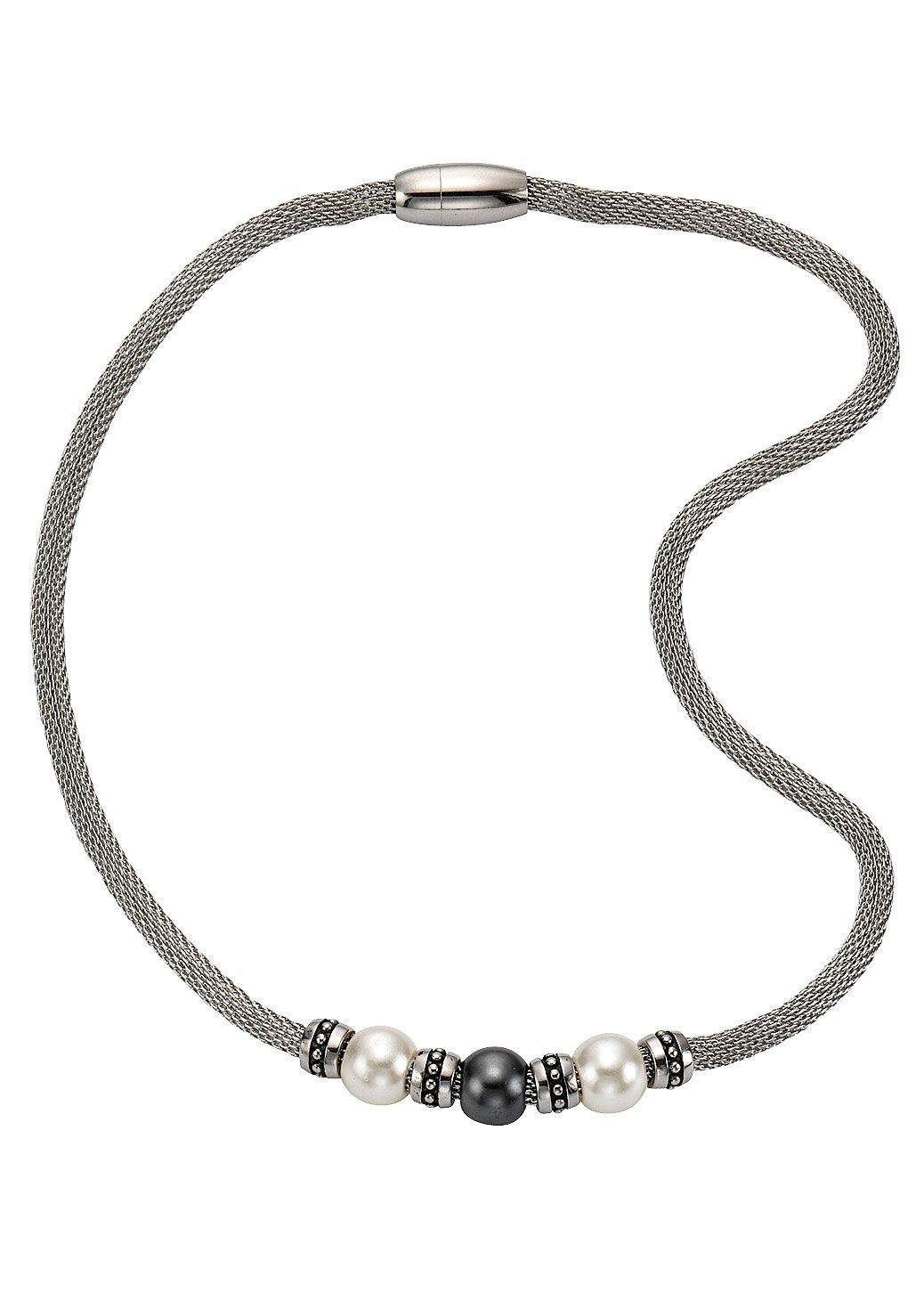 Firetti Edelstahlkette Meshgliederung Magnetverschluss | Schmuck > Halsketten > Edelstahlketten | Weiß | Firetti