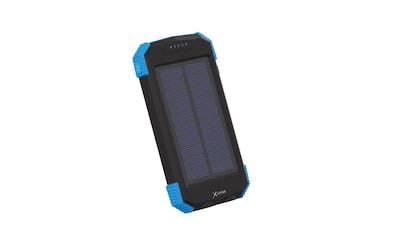 XLAYER Zusatzakku »Powerbank PLUS Solar Wireless Black/Blue 10.000 mA« kaufen