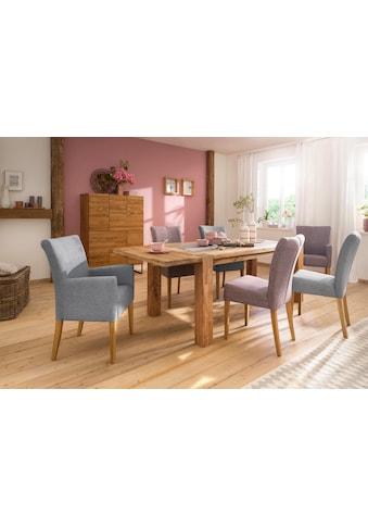 Home affaire Esstisch »Marianne«, aus massiver Wildeiche mit zusätzlich bestellbarer Ansteckplatte kaufen