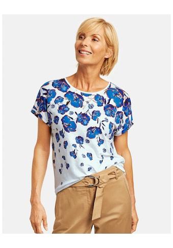 GERRY WEBER Kurzarmshirt »Shirt mit Blumen - Degradée« kaufen