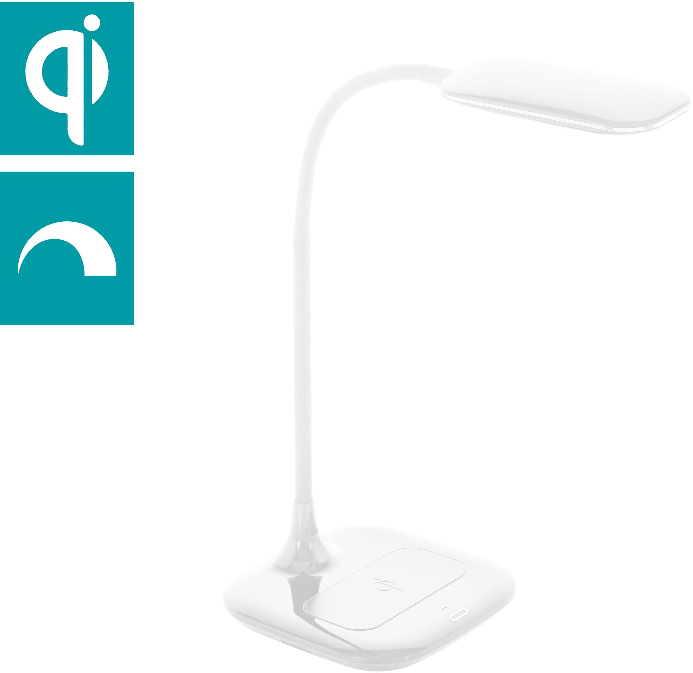 EGLO Tischleuchte MASSERIE, LED-Board, Neutralweiß, 3-step dimming, QI-charger
