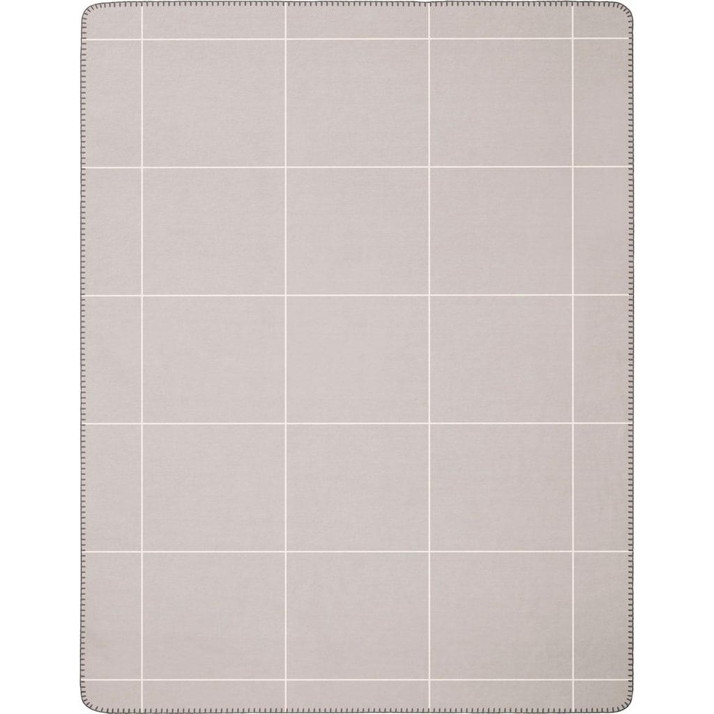 BIEDERLACK Wolldecke »Grid«, mit großzügigem Karo