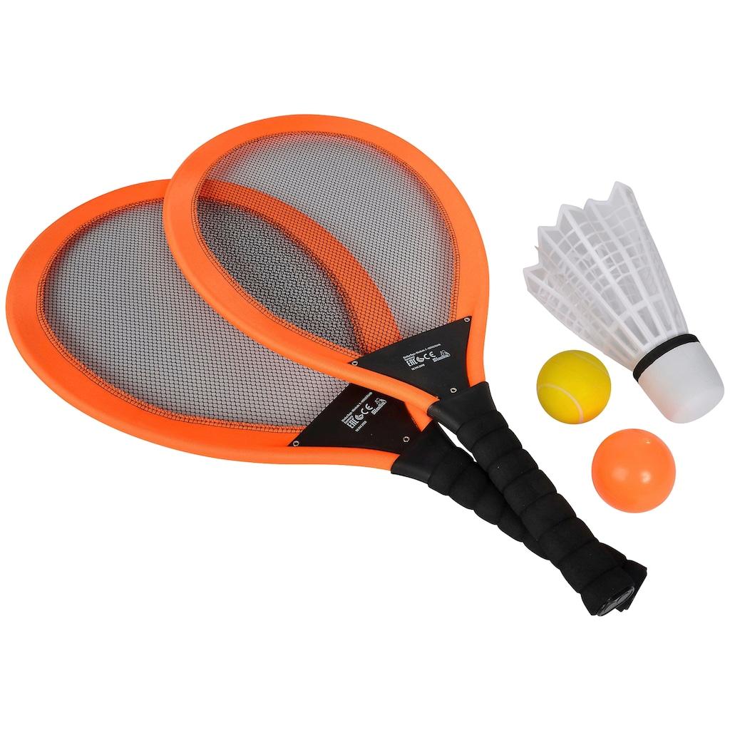 SIMBA Spielzeug-Gartenset »Giant Badminton Set«, (Set), zwei Schläger mit Bällen