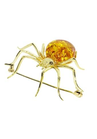 OSTSEE - SCHMUCK Brosche »Spinne 48 x 40 mm Silber 925/000, vergoldet Bernstein« kaufen