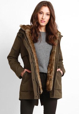 Mavi Parka »HOODED JACKET«, stylischer Damen Winterparka mit Kunstfell-Kapuze kaufen