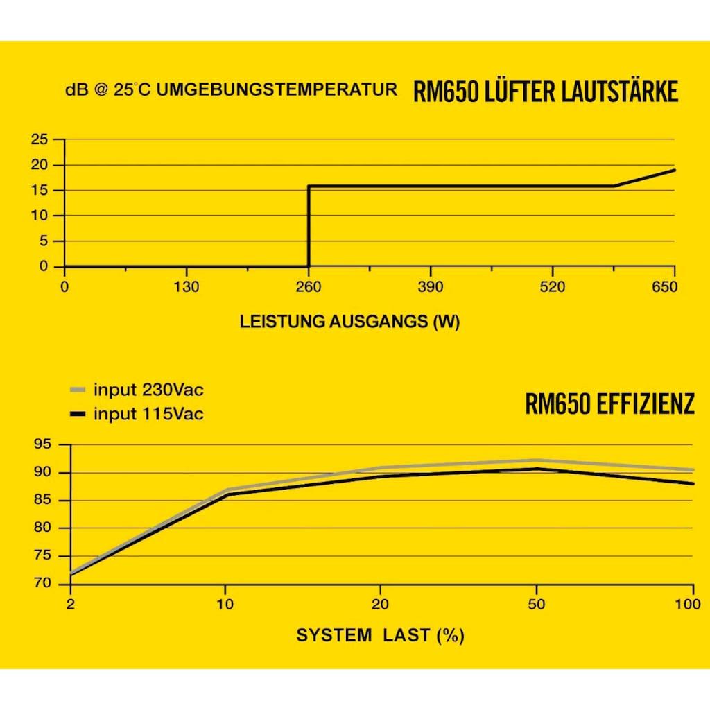 Corsair PC-Netzteil »RM650 80 PLUS Gold Fully Modular ATX Power Supply«