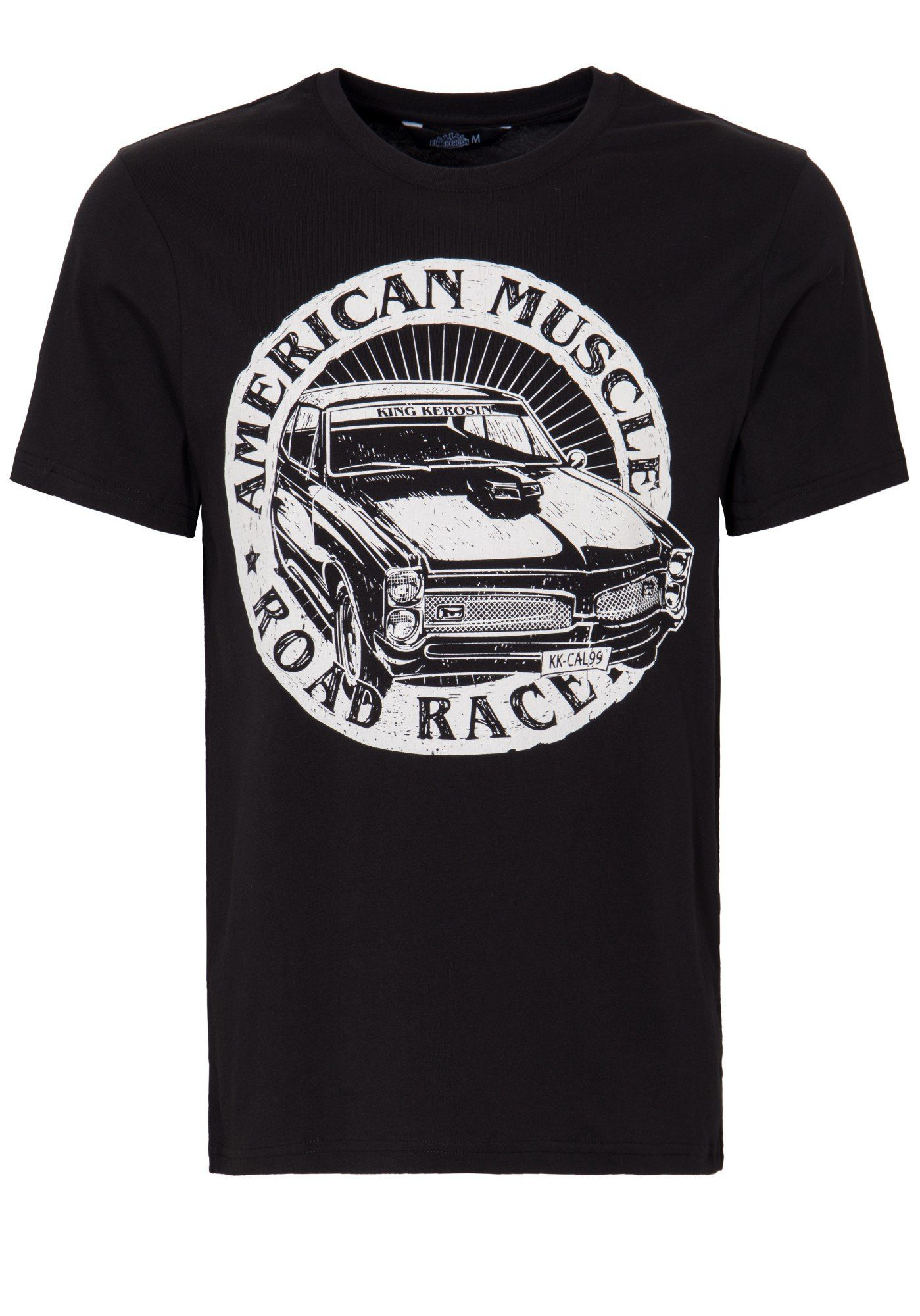 KingKerosin T-Shirt »American Muscle« | Bekleidung > Shirts > T-Shirts | Schwarz | Jersey - Jeans | KINGKEROSIN