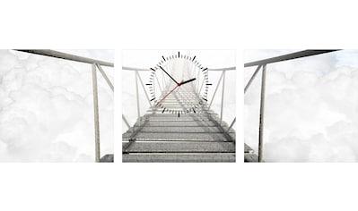Conni Oberkircher´s Bild »Bridge on the Clouds«, Brücken, (Set), mit dekorativer Uhr kaufen