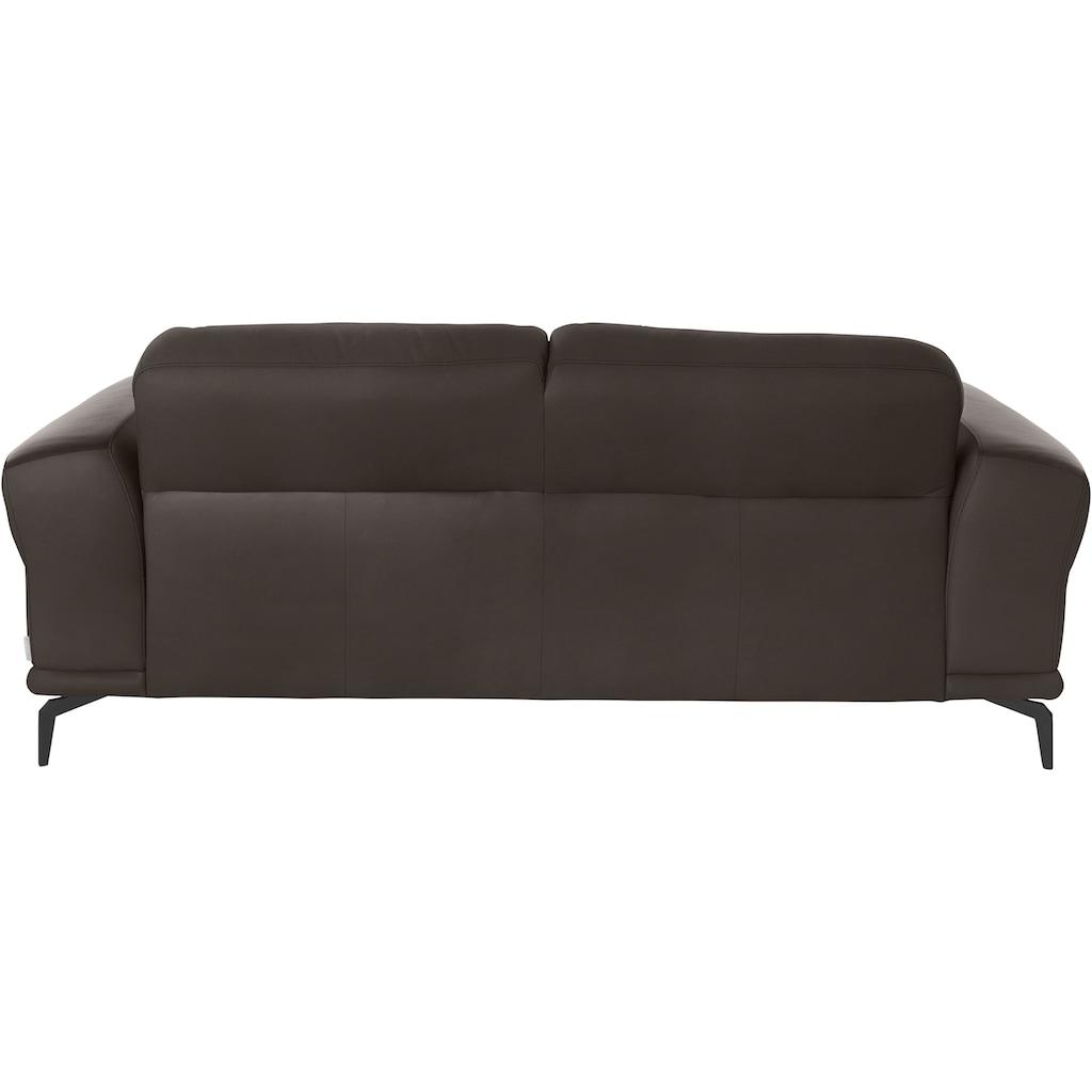 W.SCHILLIG 2-Sitzer »montanaa«, mit Metallfüßen in Schwarz pulverbeschichtet, Breite 192 cm