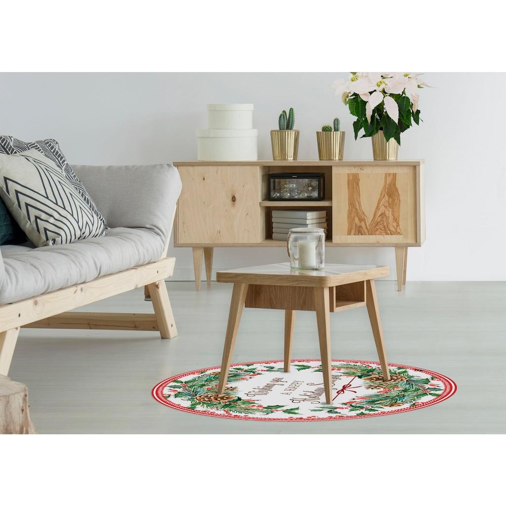 MySpotti Vinylteppich »Cordelia«, rund, 0 mm Höhe, rund, wasserfest und statisch haftend