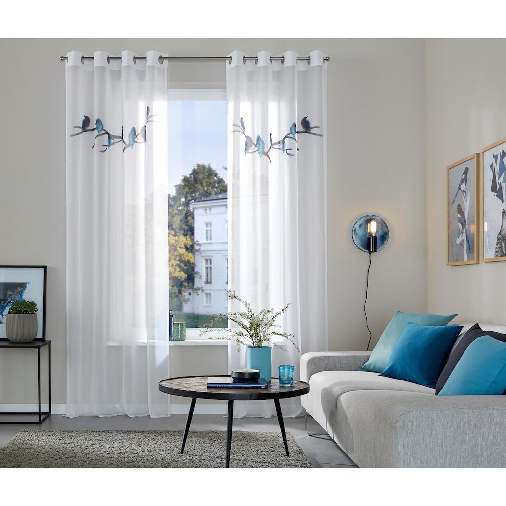 Guido Maria Kretschmer Home&Living Gardine »Eisvogel«, Inklusive Raffhalter