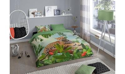 good morning Wendebettwäsche »Jungle«, mit Leopard kaufen