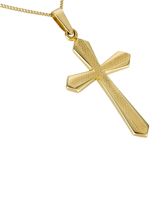 Firetti Kettenanhänger Kreuz glanz mit Struktur | Schmuck > Halsketten > Kettenanhänger | Firetti