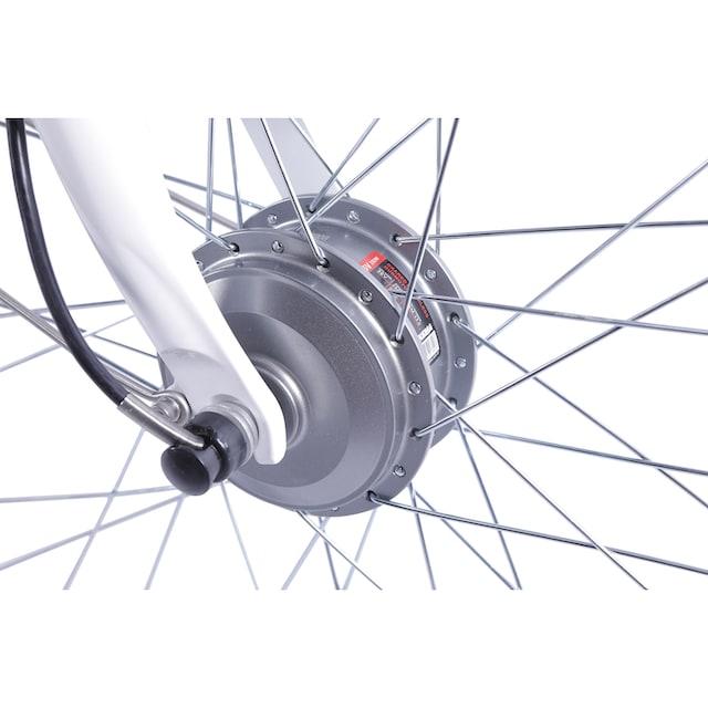 LLobe E-Bike »Metropolitan JOY weiß 10 Ah«, 3 Gang Nabenschaltung, Frontmotor 250 W