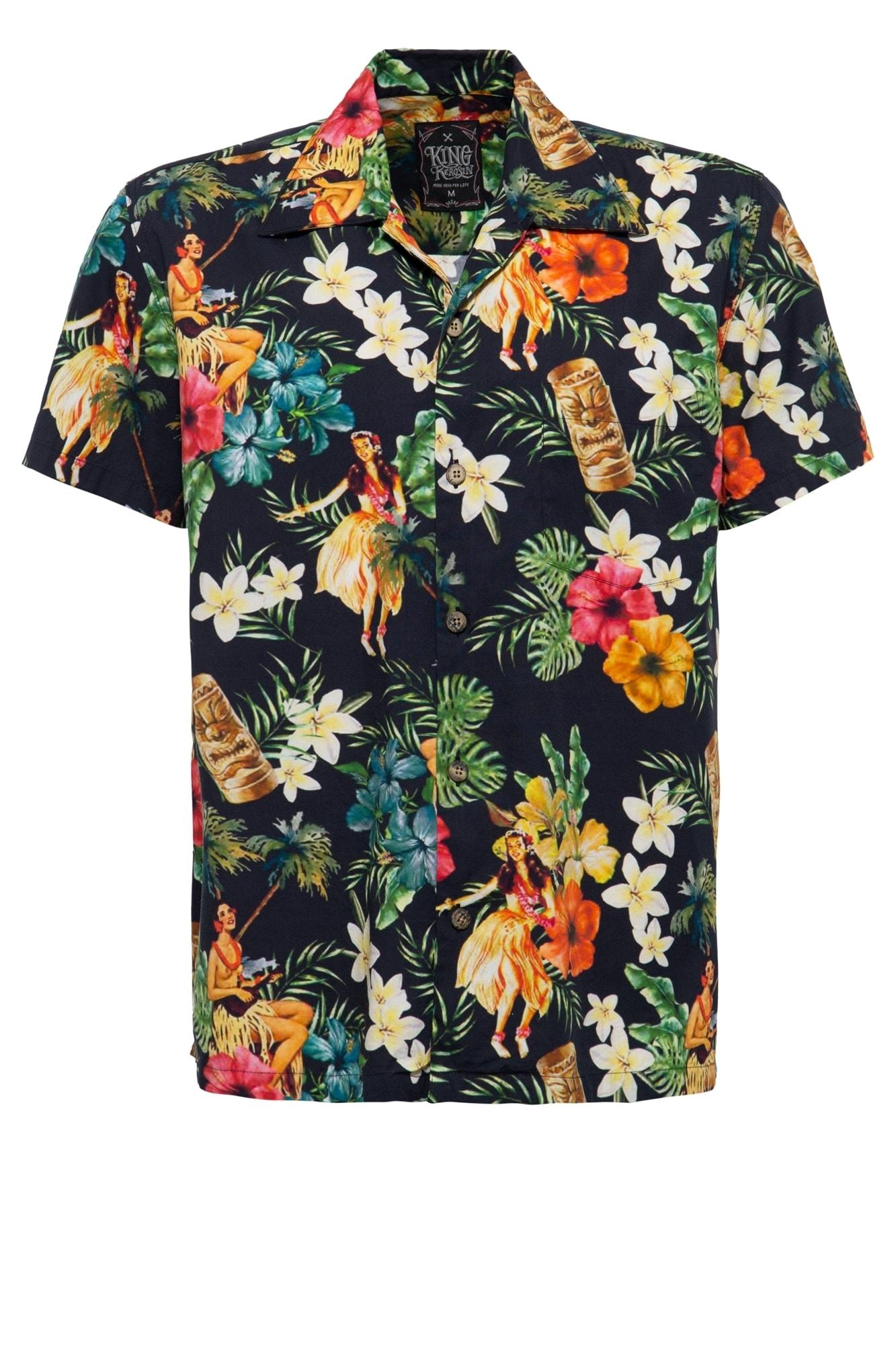 KingKerosin Hawaiihemd Dancers   Bekleidung > Hemden > Hawaiihemden   Kingkerosin