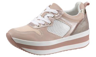 La Strada Plateausneaker »Fashion Plateau Sneaker«, mit Mesheinsatz kaufen