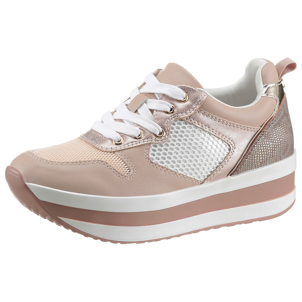La Strada Plateausneaker »Fashion Plateau Sneaker«, mit Mesheinsatz