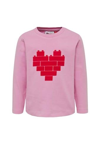 """LEGO® Wear Langarmshirt »LWTHELMA 751«, """"lock-Druck in From eine Herzes"""" kaufen"""