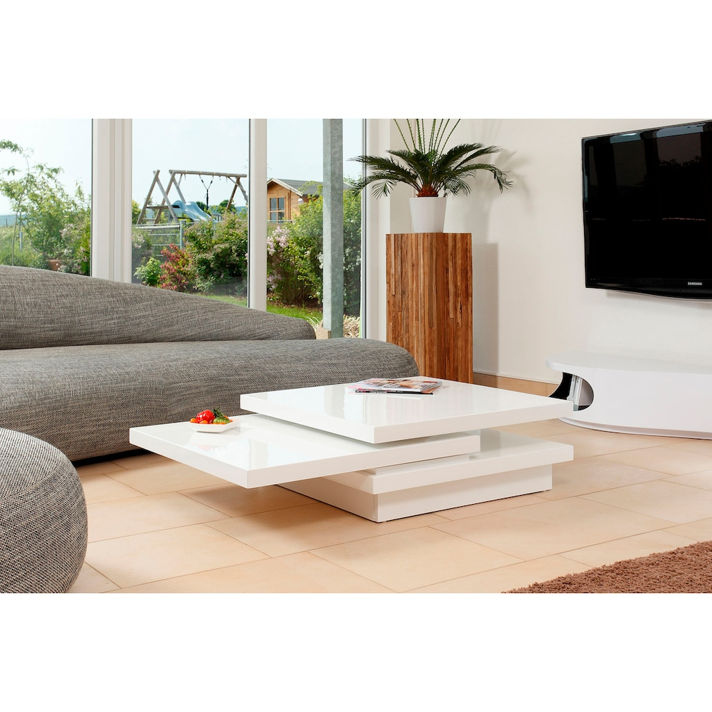 SalesFever Couchtisch, Tischplatte drehbar um 360°