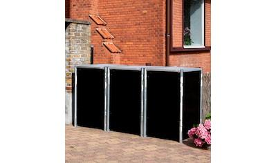 HIDE Mülltonnenbox für 3 x 240 l, schwarz kaufen