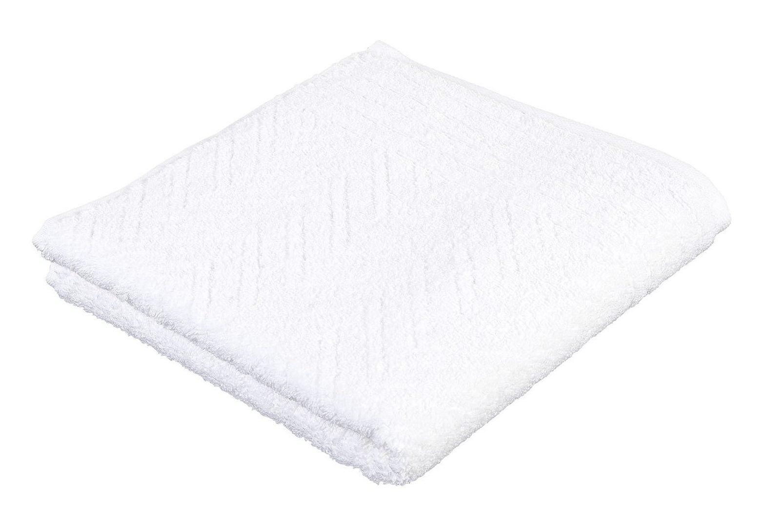 Badetuch »Elegance«, frottana | Bad > Handtücher > Badetücher | Weiß | Baumwolle | FROTTANA