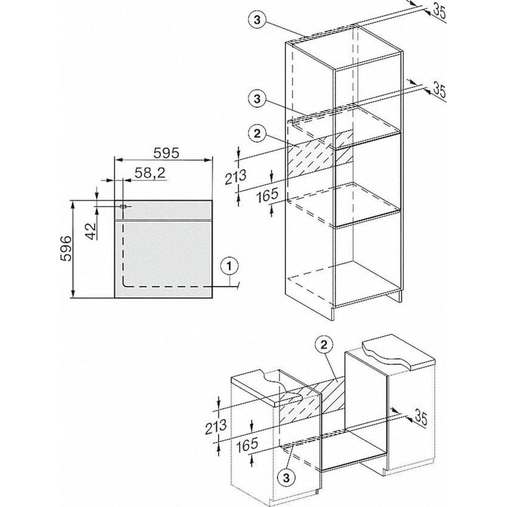 Miele Einbaubackofen »H 2267-1 B ACTIVE«, H 2267-1 B ACTIVE, mit Vollauszug