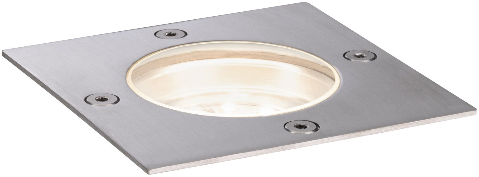 Paulmann LED Einbauleuchte Outdoor Plug&Shine floor downlight, 1 St., Warmweiß, IP65 Rostfrei