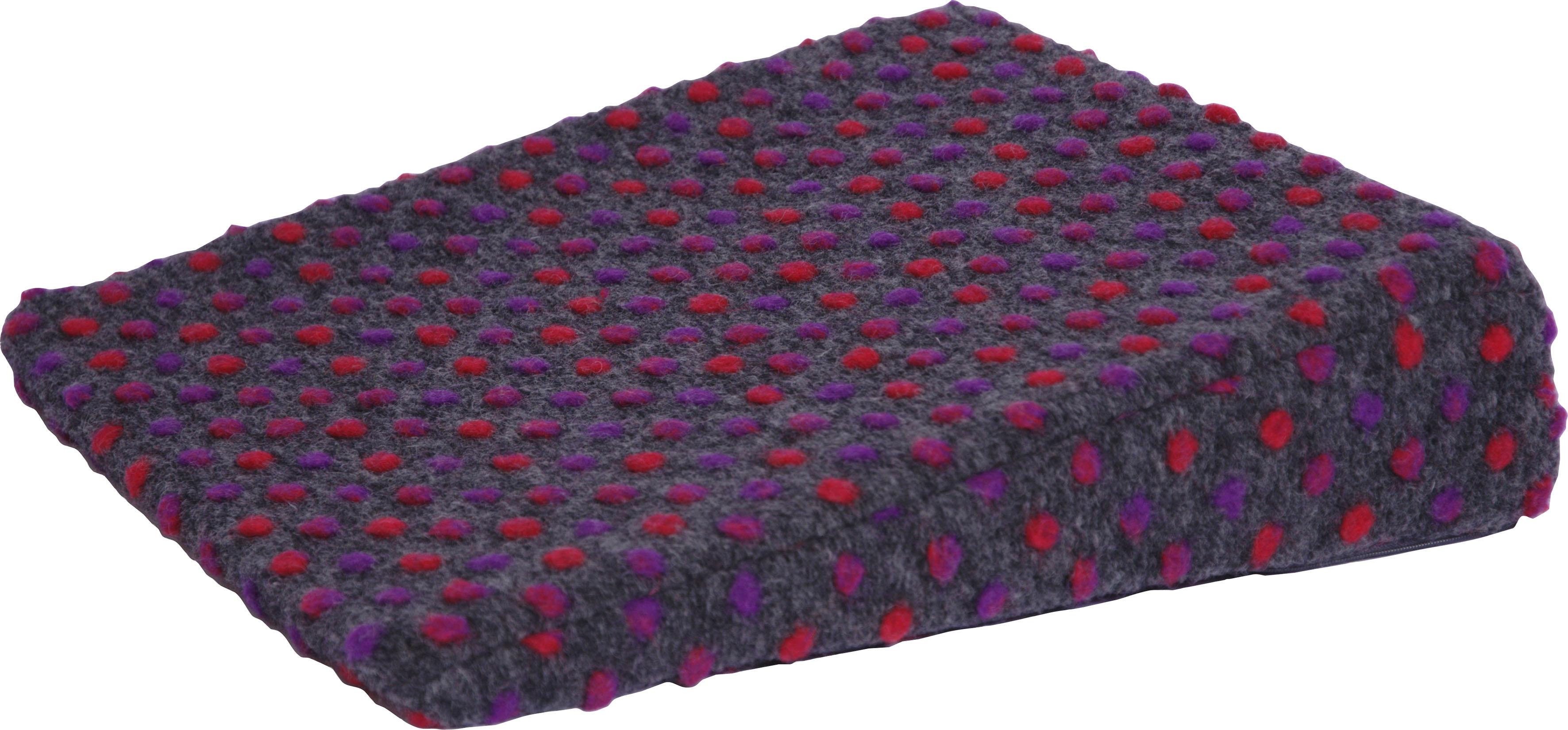 DELAVITA Keilkissen Punkte, aus reiner Schurwolle schwarz Sitzkissen Kissen