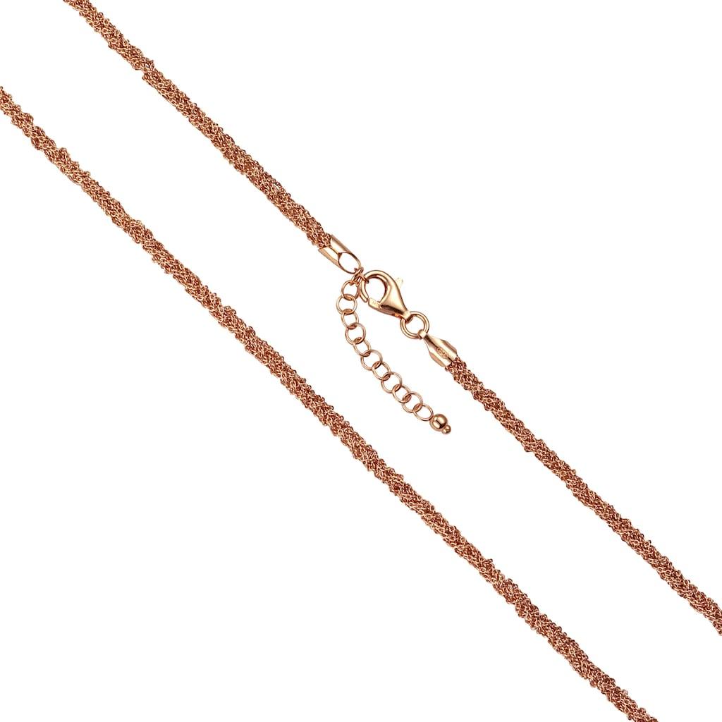 Vivance Collier »925-/ Silber 7-reihig rotvergoldet«, Collier