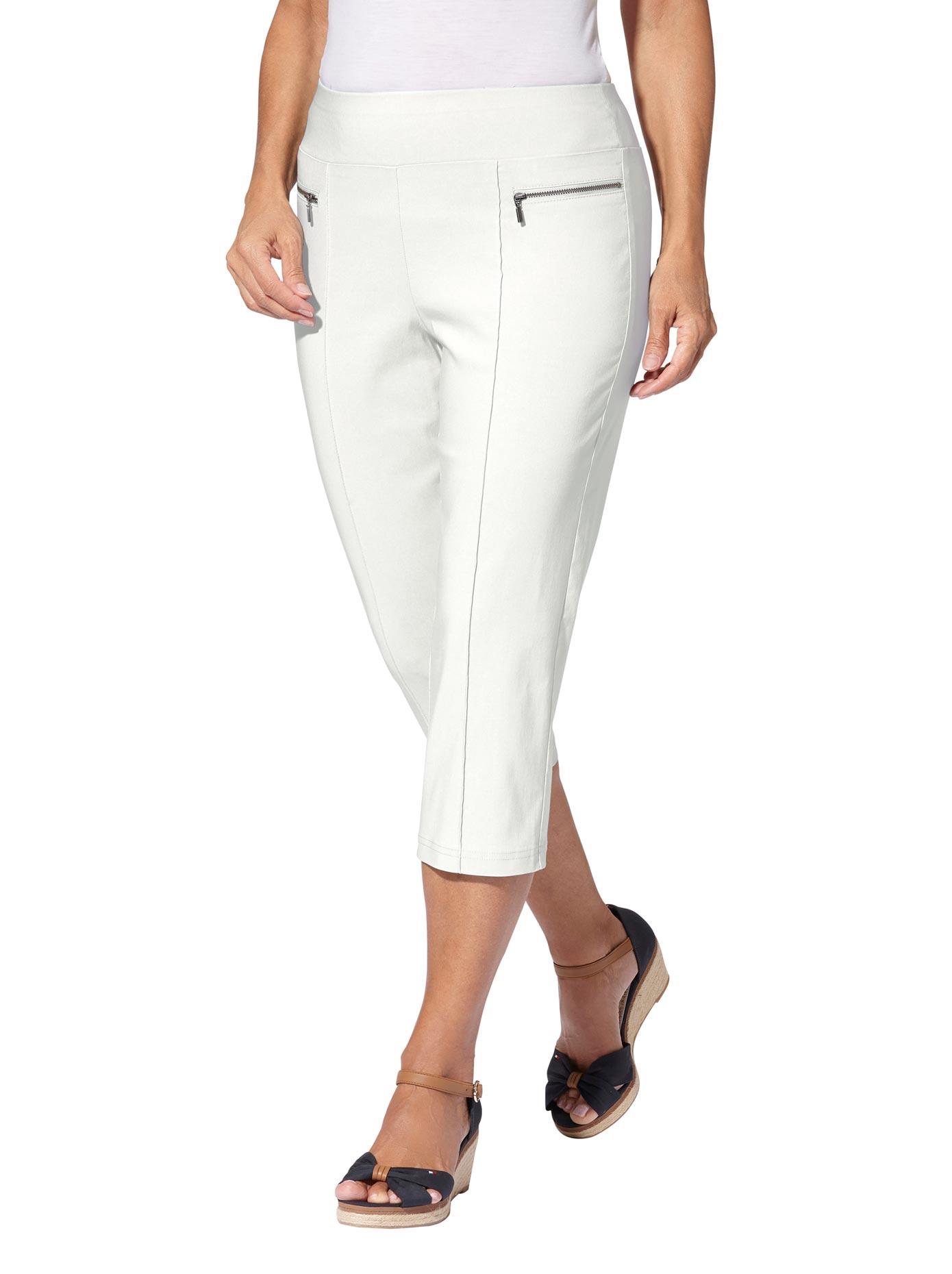 Casual Looks Capri-Hose in hochwertiger Bengalin-Qualität | Bekleidung > Hosen > Caprihosen | Beige | Casual Looks