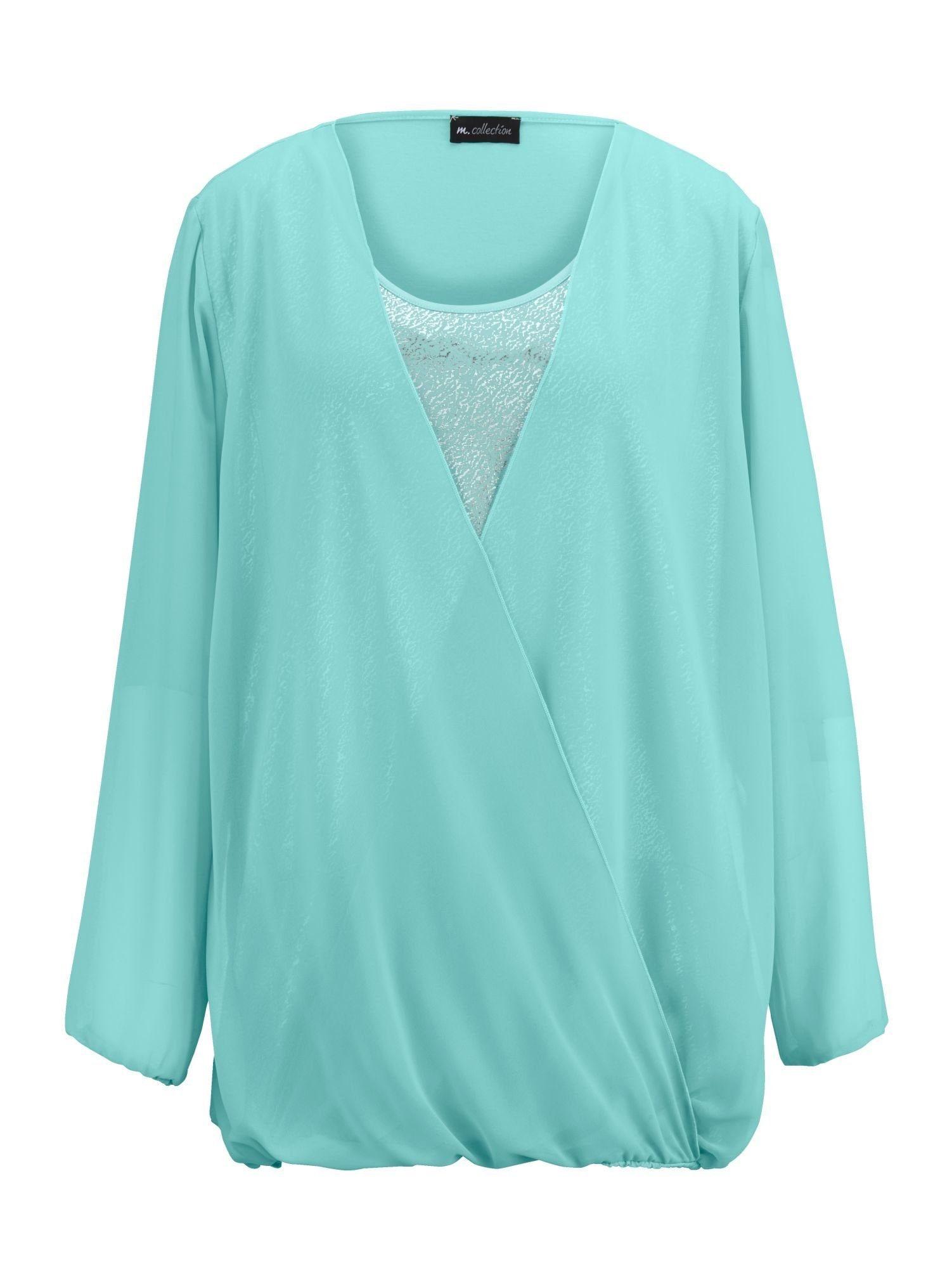 m. collection Blusenshirt mit Wickeloptik | Bekleidung > Shirts > Blusenshirts | M. Collection