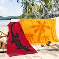 Delindo Lifestyle Strandtuch »Tropical Palme«, (1 St.), mit jacquard-gewebtem Motiv