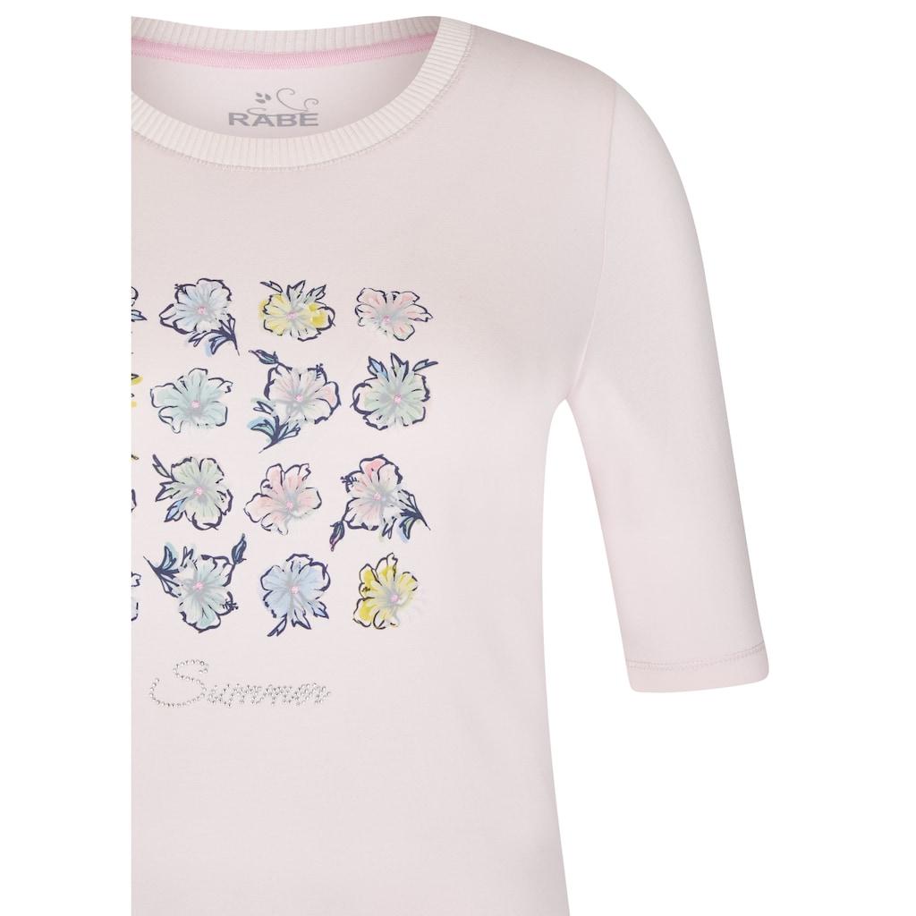 Rabe T-Shirt, mit geblümtem Muster und halblangen Ärmeln