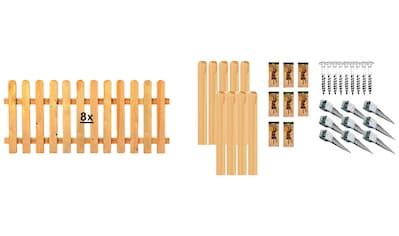 TETZNER & JENTZSCH Set: Staketenzaun »Houston 6«, 8 Elemente, LxH: 1521x80 cm kaufen