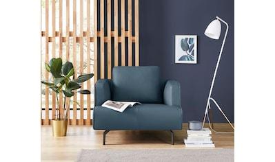 hülsta sofa Sessel »hs.440«, wahlweise in Stoff oder Leder, Gussfüße umbragrau kaufen