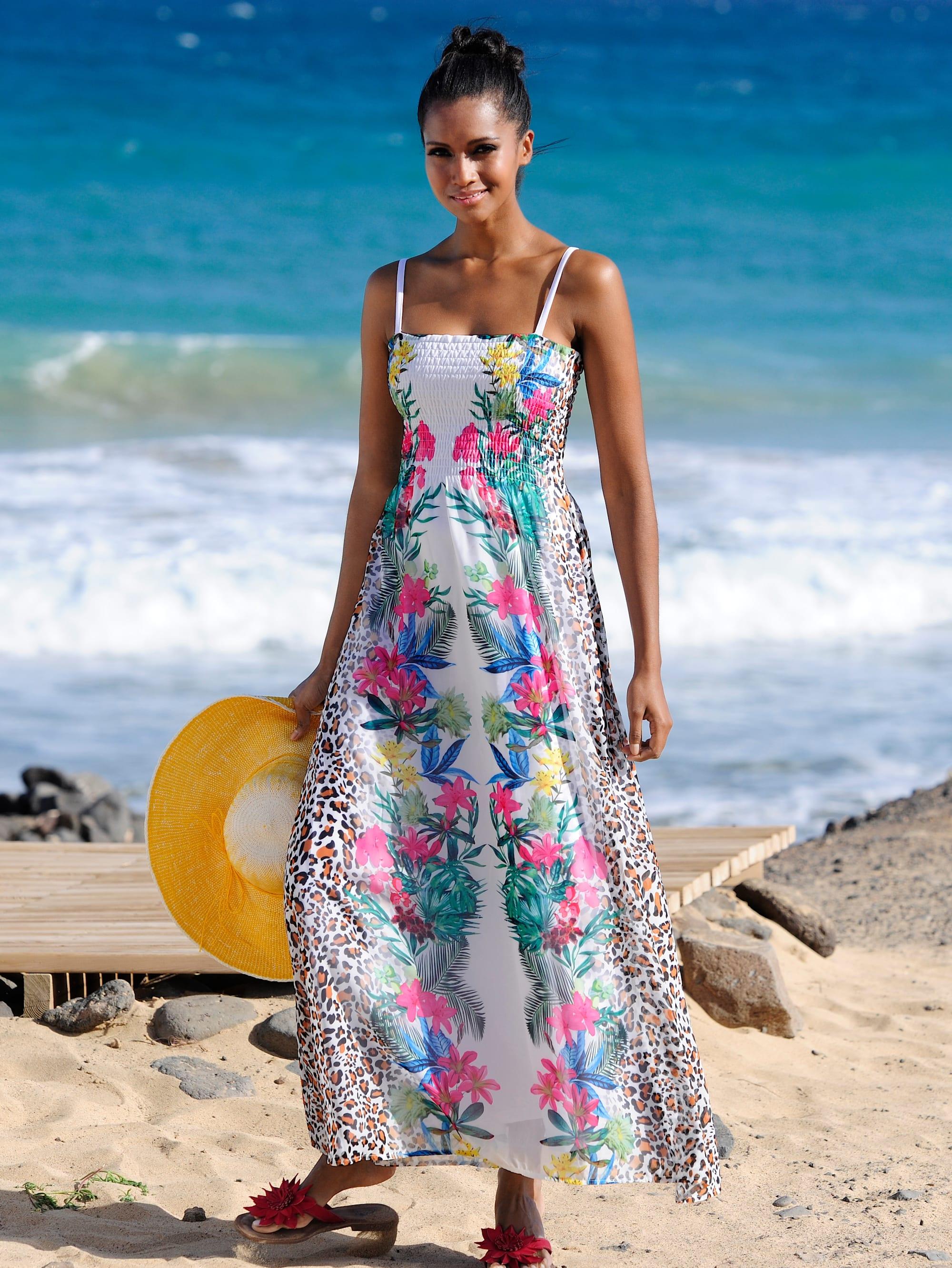 Alba Moda Strandkleid mit gesmoktem Oberteil | Bekleidung > Kleider > Strandkleider | Alba Moda