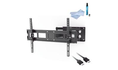 Hama TV Set, Wandhalter schwenkbar, HDMI - Kabel, 3,0 m, Reiniger »FULLMOTION, bis 213cm, 84 Zoll« kaufen