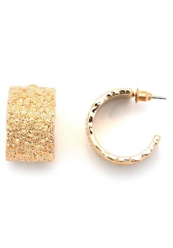 J.Jayz Paar Creolen »glitzernd, vergoldet, mit körniger Struktur« kaufen