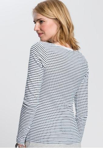 AJC Langarmshirt, mit maritimen Druck oder Streife - Design kaufen