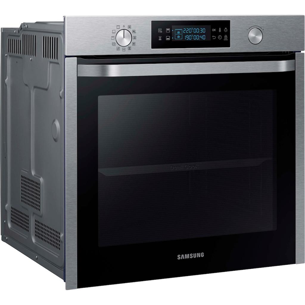 Samsung Pyrolyse Backofen »NV75K5571BS/EG«, NV75K5571BS, mit Teleskopauszug nachrüstbar, Pyrolyse-Selbstreinigung, mit Automatikprogrammen