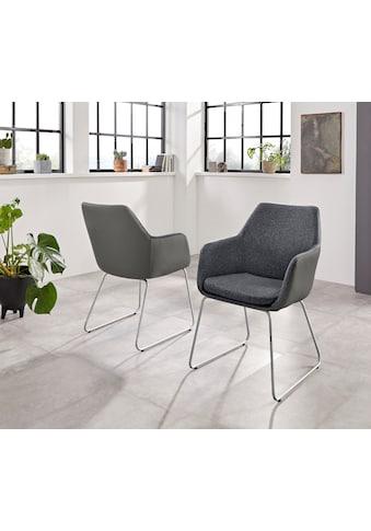 INOSIGN Armlehnstuhl »Helsinki«, Bezug in Webstoff in Kombination mit Kunstleder oder... kaufen