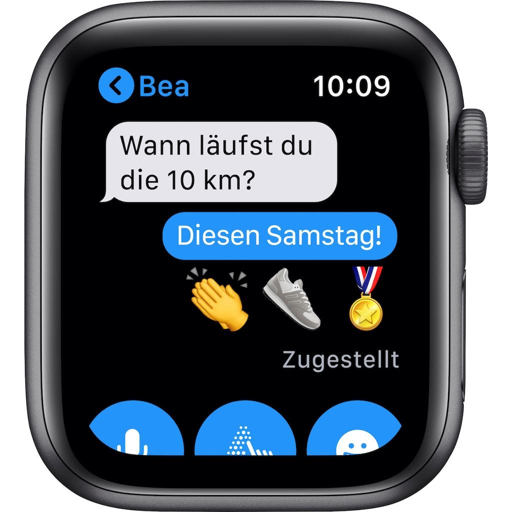 Apple Watch »Nike SE GPS, Aluminiumgehäuse mit Nike Sportarmband 40mm«, (Watch OS 6 inkl. Ladestation (magnetisches Ladekabel)