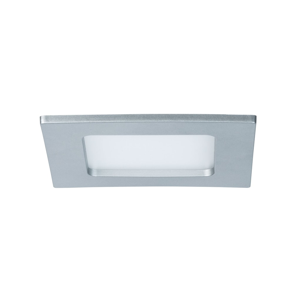 Paulmann LED Panel »Einbaupanel LED eckig 6W 4000K Chrom matt IP44 spritzwassergeschützt«, 1 St., Neutralweiß