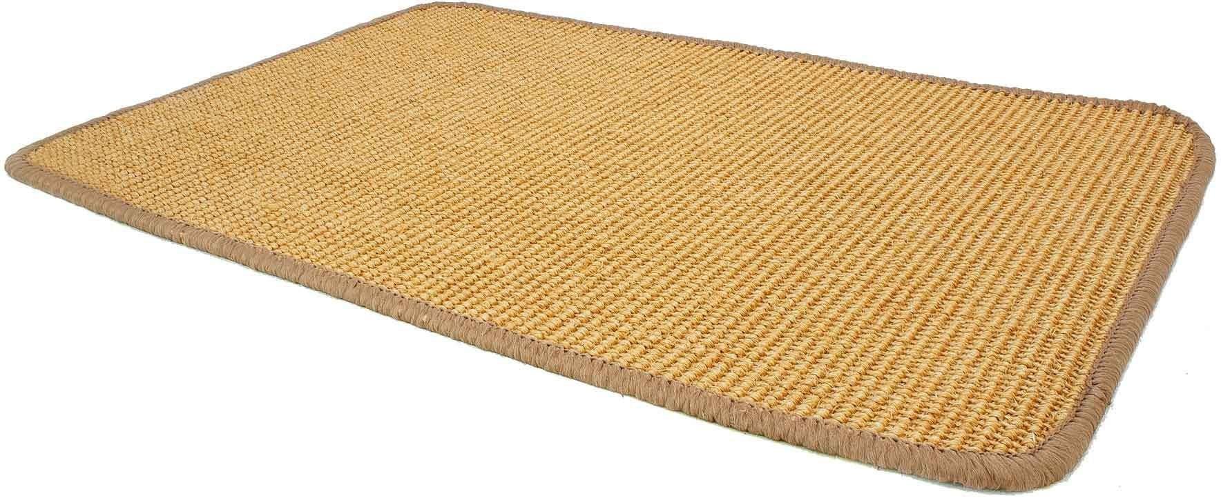 Sisalteppich SISALLUX Primaflor-Ideen in Textil rechteckig Höhe 6 mm maschinell gewebt