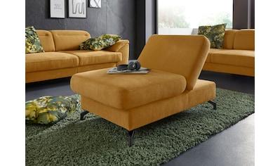 sit&more Hocker, Fußhöhe 12 cm, mit Klappfunktion und Federkern, wahlweise in 2 unterschiedlichen Fußfarben kaufen