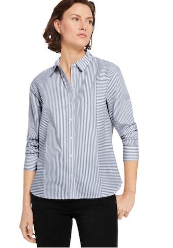 TOM TAILOR Klassische Bluse, im Kontrast Streifen-Look kaufen