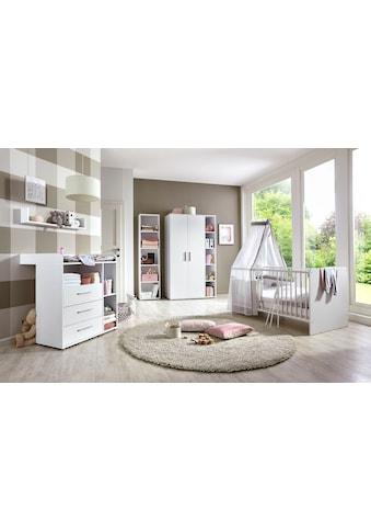 BMG Babyzimmer-Komplettset »Luis«, (Set, 5 tlg.), Bett + Wickelkommode + 2-trg. Schrank + Standregal + Wandboard kaufen