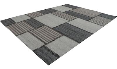 calo-deluxe Teppich »Roxy 120«, rechteckig, 6 mm Höhe, Flachgewebe, Wohnzimmer kaufen