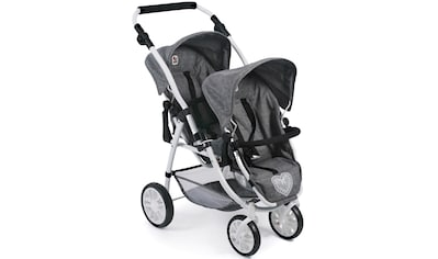 "CHIC2000 Puppen - Zwillingsbuggy ""Vario, Jeans Grey"" kaufen"